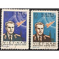 Bộ Tem Sưu Tầm Việt Nam 1961 Nhà du hành vũ trụ G. Titov - 2 Con Stamps