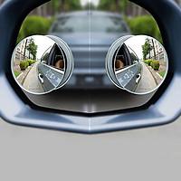 Bộ 2 Gương Cầu Lồi CAR365 Chính Hãng, Thiết Kế Tràn Viền Xoay 360 độ Gắn Cho Kính Gương Chiếu Hậu Tránh Điểm Mù Cho Xe Hơi, Xe Ô tô