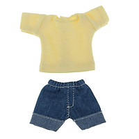 Adorable Two-piece Outfits Jeans And Blue Top For OB11 Mini Blythe Dolls