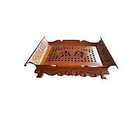 Khay trà gỗ hương khổng minh loại lớn, hàng cao cấp 45cm, sau: 29,5cm ,Cao : 12cm TP1073