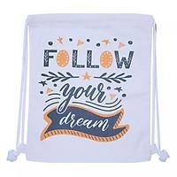 Túi Dây Rút Canvas Cá Chép - Follow Your Dream (35 x 40 cm)