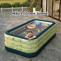 Bể bơi phao cho bé hồ bơi bơm hơi gia đình hàng cao cấp 1.5m 150x105x55cm