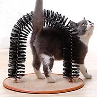 Bàn cào móng cho mèo kết hợp cây cọ massage cho mèo