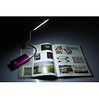 Đèn led sáng trắng đọc sách cảm ứng chạm thông minh cắm cổng USB(Tặng quạt sắt mini cắm cổng USB-màu ngẫu nhiên)