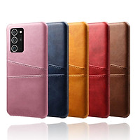 Samsung Galaxy Note 20 Ultra Luxury Retro PU Leather Card Pocket Slots Wallet Shockproof Case Cover