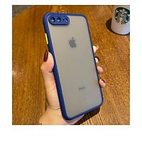 Ốp lưng trong nhám viền Shield Matte Color bảo vệ camera cho iPhone 7 Plus/ 8 Plus