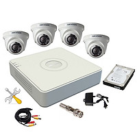 Trọn bộ 4 camera HIKVISION 1.0MP - Hàng chính hãng lắp đặt miễn phí tại TP.HCM