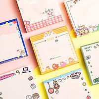 Giấy note 80 tờ cầm tay nhỏ gọn tiện lợi đủ họa tiết cute cùng nhiều màu sắc lung linh đáng yêu cho mọi lứa tuổi  – H033