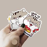 Set 60 Sticker Mèo Ami Mập Bụng Bự ảnh decal hình dán ép lụa