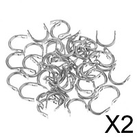 2x50pcs Easy-Spin Clevises Spinner Easy   DIY Fishing Lures Accessories S