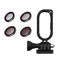 TELESIN Camera Filter Kit with 4pcs Filters(CPL + ND8 + ND16 + ND32) + Camera Protective Frame Housing ABS+PC Material