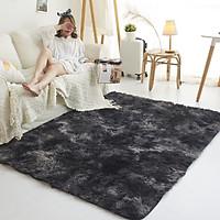 Thảm lông trải sàn màu ghi đen - KT 1m6x2m