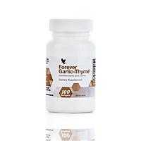 Thực Phẩm Chức Năng Viên Cung cấp chất chống Oxi hóa, tăng đề kháng Tỏi + Xạ Hương Forever Garlic Thyme (100 Viên/Hộp)