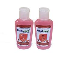 Combo 2 chai gel rửa tay khô Hapicare Táo 60ml