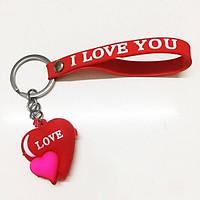 Móc chìa khóa móc khóa dây đeo hình trái tim chữ LOVE