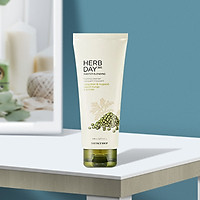 Sữa rữa mặt làm sạch sâu The Face shop Daily Herbal Master Blending Mung Bean & Wormwood Foaming Cleanser 170ml