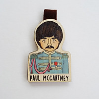 Bookmark gỗ nam châm Paul McCartney nhóm Beatles BO033