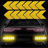 Bộ 12 miếng decal phản quang dán ô tô, xe máy