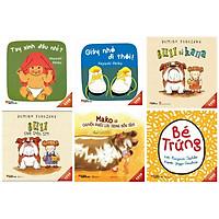 Combo ehon Nhật Bản bộ 6 cuốn :Tay xinh đâu nhỉ ? + Giày nhỏ đi thôi + Bull và Kana + Bull chơi chốn tìm + Mako và chuyến phiêu lưu trong bồn tắm + Bé trứng -Bộ ehon chứa đựng nhiều bài học phát triển tâm hồn của con