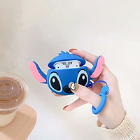 Vỏ Bao Silicon Bảo Vệ Hình Stitch Cho Case Airpods 1/2/Pro