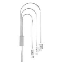 Cáp Sạc 3 Đầu Hoco UPL12 Lightning-Micro-TypeC (1m) - Hàng Chính Hãng