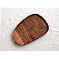Khay Oval  gỗ óc chó 15001 Holzklotz (23x15cm)
