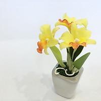 Chậu hoa đất sét mini - Cây hoàng lan (phát màu ngẫu nhiên)