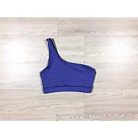 Áo bra tập gym vai lệch