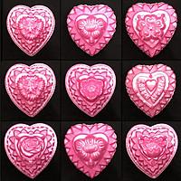 Bộ 10 khuôn rau câu trung thu hình tim
