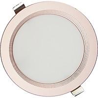 Đèn LED âm trần siêu mỏng Kosoom 8W viền vàng hồng DL-KS-SMV-8