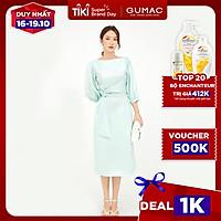 Đầm dáng ôm nữ thiết kế tay lỡ xếp eo sang trọng GUMAC  DB593