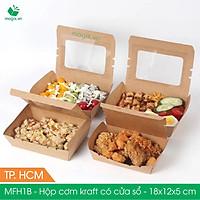 Combo 50 hộp đựng thực phẩm - hộp giấy đựng thức ăn hộp đựng cơm