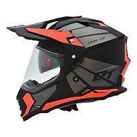 Mũ Bảo Hiểm Fullface Off Road YOHE 632A 8# Matt Black/Fluo Orange