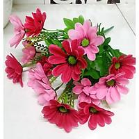 Hoa giả Chùm hoa anh đào màu Hồng đỏ trang trí