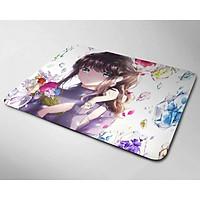 Miếng lót chuột mẫu Anime và Hoa (20x24cm)