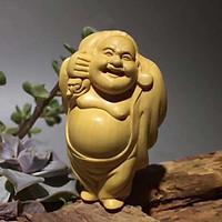 Tượng gỗ hoàng dương Phật di lặc hộ mệnh