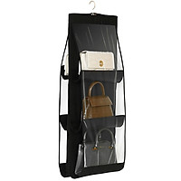 Túi treo 6 ngăn trong suốt để túi xách, khăn, phụ kiện chống bụi bẩn cao cấp (Loại dày)