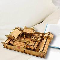 Đồ chơi lắp ráp gỗ 3D Mô hình Nhà gỗ Bắc Kinh R-8086 Laser