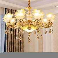 Đèn chùm pha lê hiện đại trang trí nội thất - Kèm bóng đèn LED chuyên dụng