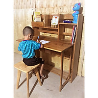 Bộ bàn học trẻ em – bàn học sinh gỗ tự nhiên - bàn học thông minh  AS1016