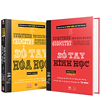 Sách - Sổ tay hình học và sổ tay hóa học - Á Châu Books ( tiếng việt, 2 cuốn, lớp  8 - lớp 12 )