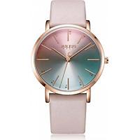 Đồng hồ nữ Julius Hàn Quốc JA-1161 dây da mặt sắc màu