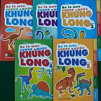 Combo bộ 5 cuốn  tô màu vương quốc khủng long
