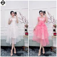 Đầm xoè xếp tầng hoa eo siêu xinh TRIPBLE T DRESS - Size M/L - MS101Y