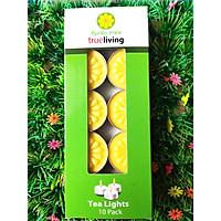Nến tealight 10 viên màu vàng không mùi dày 1.5cm cháy từ 4h-5h | Bio Aroma