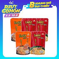 Combo 5 Gói Lớn Snack Bim Bim Bánh Que Lotus Vị Tôm Kết Hợp Vị Thịt Heo Xông Khói (55g x 5 gói) Nhập Khẩu Từ Thái Lan Ngon Giòn Và Thơm