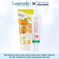 Bộ đôi serum giảm mụn, ngừa thâm Hàn Quốc Lagivado  Dr. ATreat Serum 30 ml và tẩy tế bào da chết Radiance Peeling 50 ml.
