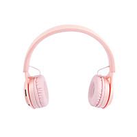 Tai Nghe Over Ear Chụp Tai Bluetooth 5.0 Màu Hồng - Hàng Chính Hãng