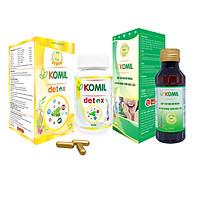 [Combo] Bộ sản phẩm giảm hôi miệng Komil & Komil detox (Giảm tận gốc nguyên nhân gây hôi miệng)