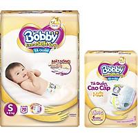 Tã Quần Bobby Extra Soft Dry S70 [Tặng 6 Miếng Tã Quần size M]
